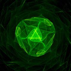 Green singularity in space