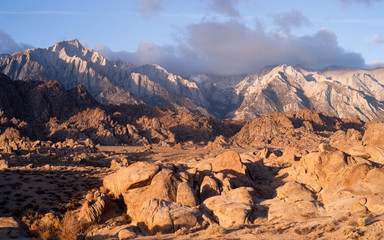 Golden Alpine Sunrise Alabama Hills Sierra Nevada Range CA