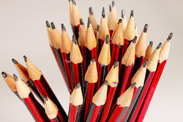 a display of a group of pencils