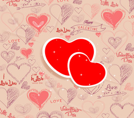 wedding invitation, card for Valentine's Day