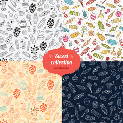 Love candy background set