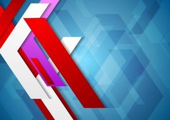 Tech geometric vector background
