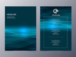 blue technology graphic design element flyer template