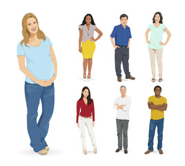 Group of Multi-ethnic People Concept
