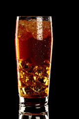 long island fresh Cocktail isolated on black