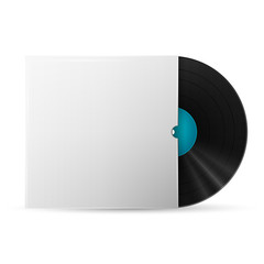 vinyl record in a paper case