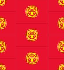 Kyrgyzstan flag texture vector
