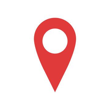 Red geo pin as logo
