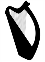 Irish Harp in Silhouette
