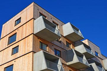 holzbau, wohnhaus, balkon