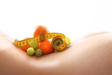 Zdrowa dieta, szczupłe ciało, piękne ciało