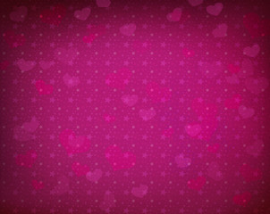 Celebratory background with sparkles, stars and hearts.