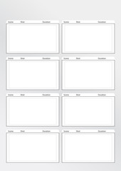 storyboard template vertical x8