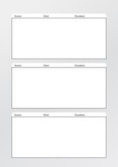 Film storyboard template vertical x3