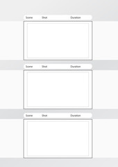 storyboard template vertical x3 notes space