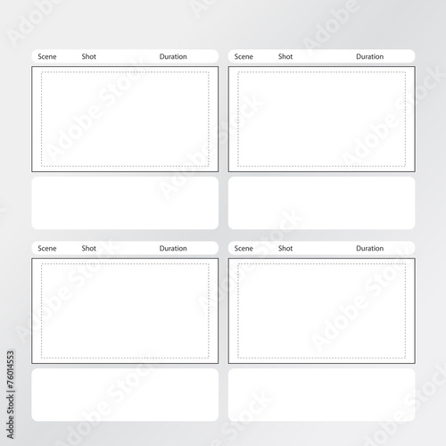 Storyboard Template X4 Square Stock Image And Royalty Free Vector