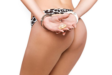 naked girl in handcuffs