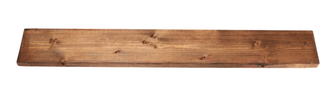 Colored pine wood board plank isolated