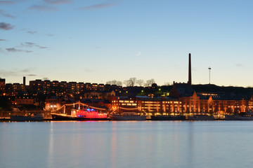 Stockholm night view