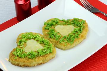omlet serce
