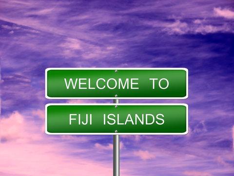 Fiji Islands Travel Sign