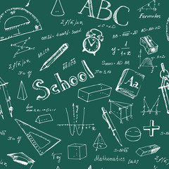 Seamless pattern back to school.