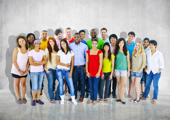 Group People Casual Community Crowd Diversity Together Concept