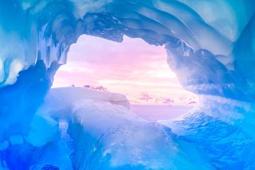Poster Antarctica blue ice cave