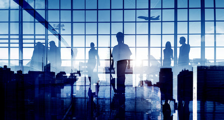 Business People Travel Corporate Aiport Passenger Concept