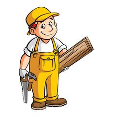 Carpenter Cartoon Illustration