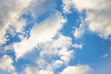 close up clouds in the blue sky