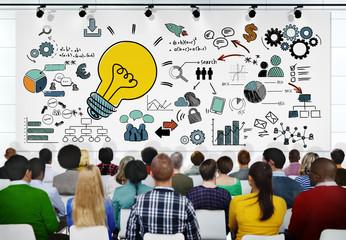 People Seminar Vision Creativity Planning Tactic Ideas Concept