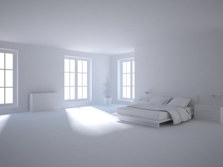 grey 3d bedroom