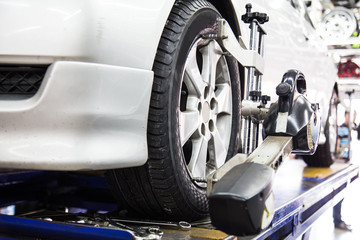 Wheel alignment of a vehicle