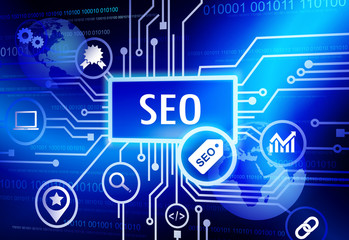 SEO Internet Connection Global Community Concept