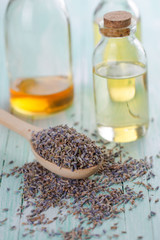 Lavender buds and  aroma oil