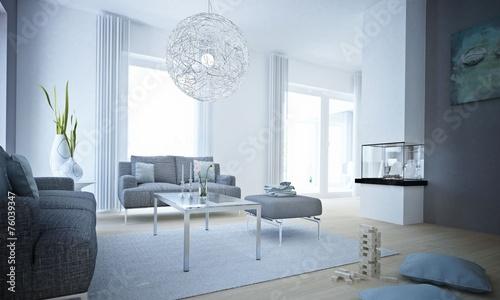 wohnzimmer in graut nen 76039347. Black Bedroom Furniture Sets. Home Design Ideas