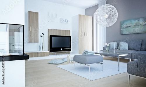 wohnzimmer in graut nen stockfotos und lizenzfreie bilder auf bild 76039373. Black Bedroom Furniture Sets. Home Design Ideas