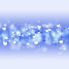 Bright Blue Valentine Card