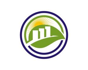 leaf bar logo template