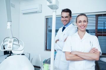 Portrait of smiling dentists