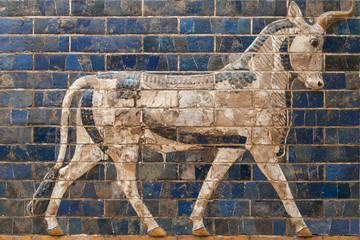 Mosaic of a Bull on the Ishtar Gate