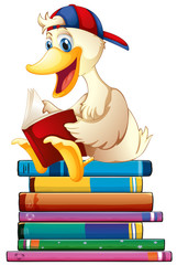 Duck and books