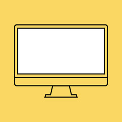 monitor PC design template element for web and mobile