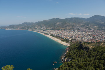Alanya - the beach of Cleopatra .  Turkey
