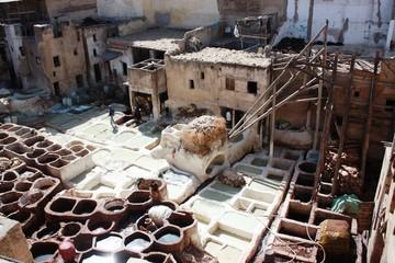 Gerberei in Fes - Marokko