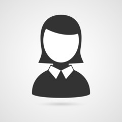Business woman icon. Vector illustration.