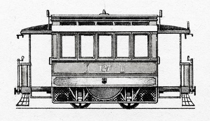 Tram vith gas engine (Dessau, Germany, 1894)