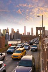 Fotomurales - Brooklyn Bridge sunset New York Manhattan