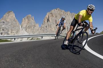 Cyclists - Dolomites paradise